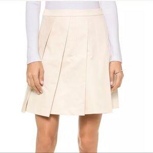 Theory Sarise Ivory Pleat Aline Skirt NWT XXS 00